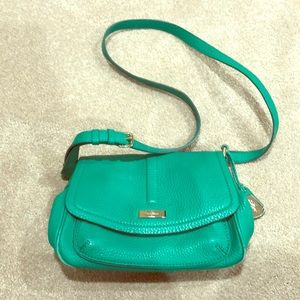Cole Haan green leather crossbody bag